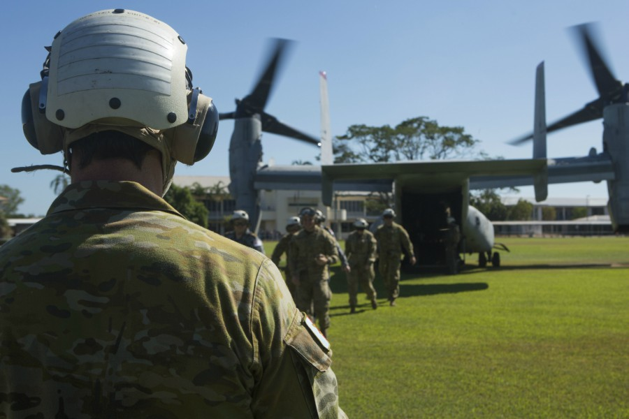 ADF service members and families tour MV-22B Ospreys