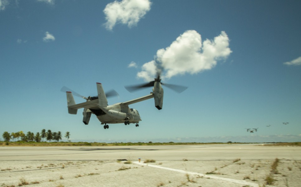 MRF-D Marines conduct trans-Pacific flight in MV-22 Ospreys