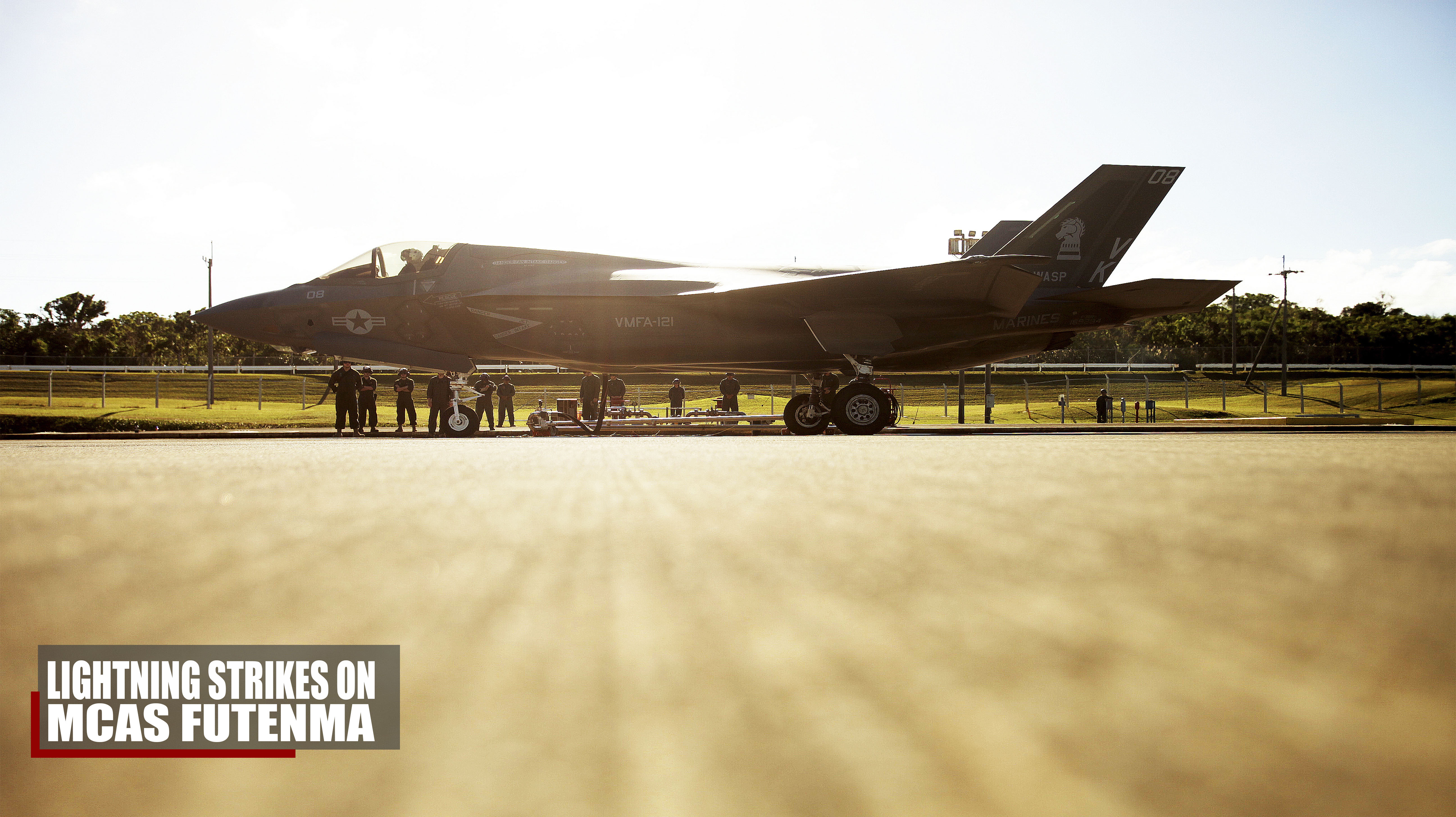 F-35B Lightning II lands at MCAS Futenma for first time